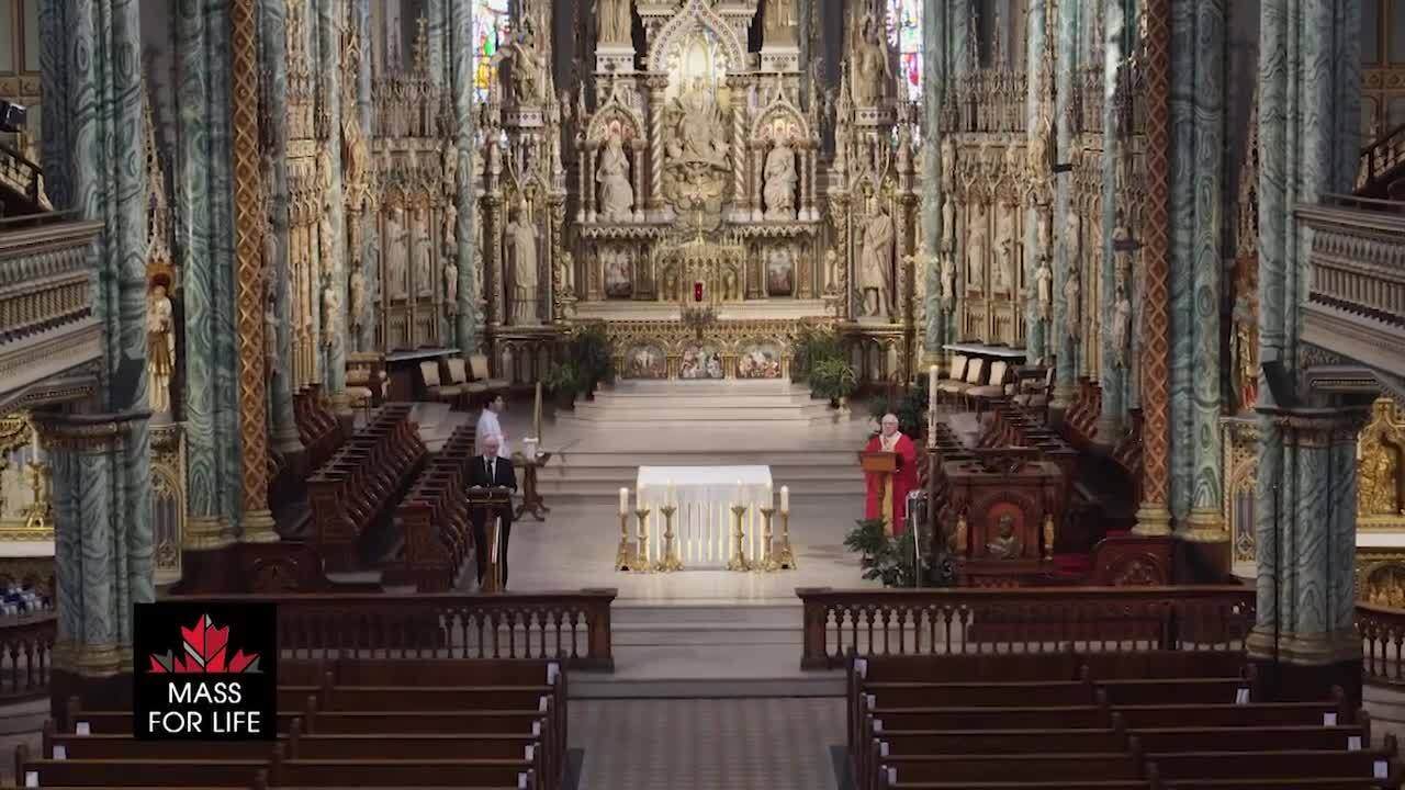 The National Mass for Life from Ottawa 2021