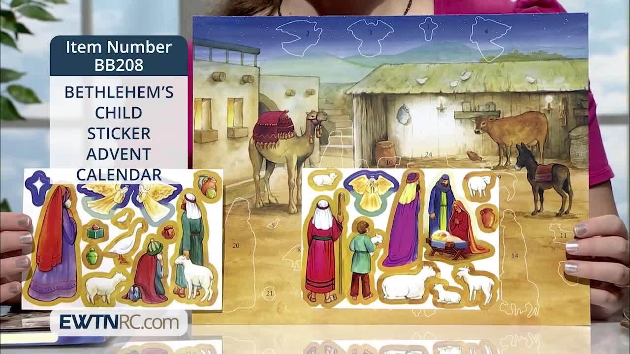 BB208_BETHLEHEM'S CHILD - STICKER ADVENT CALENDAR
