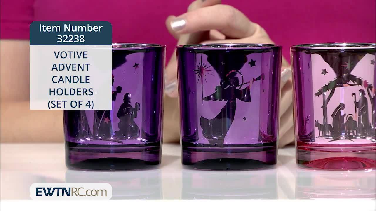 32238_VOTIVE ADVENT CANDLE HOLDERS (SET OF 4)