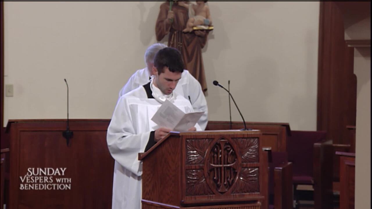2020-09-27 - Sunday Vespers with Benediction