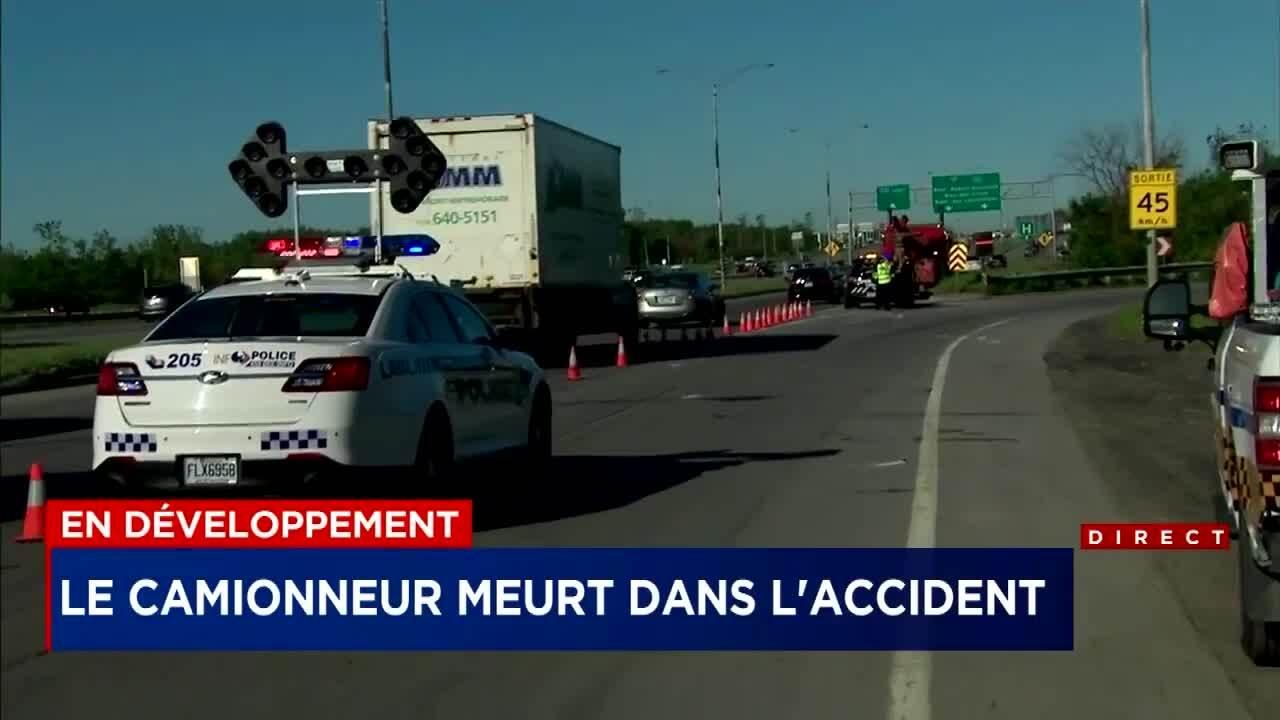 Accident sur l'A-440 Ouest: le conducteur du camion est