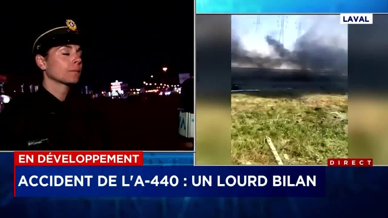 Quatre personnes meurent dans l'accident sur l'A-440   TVA Nouvelles