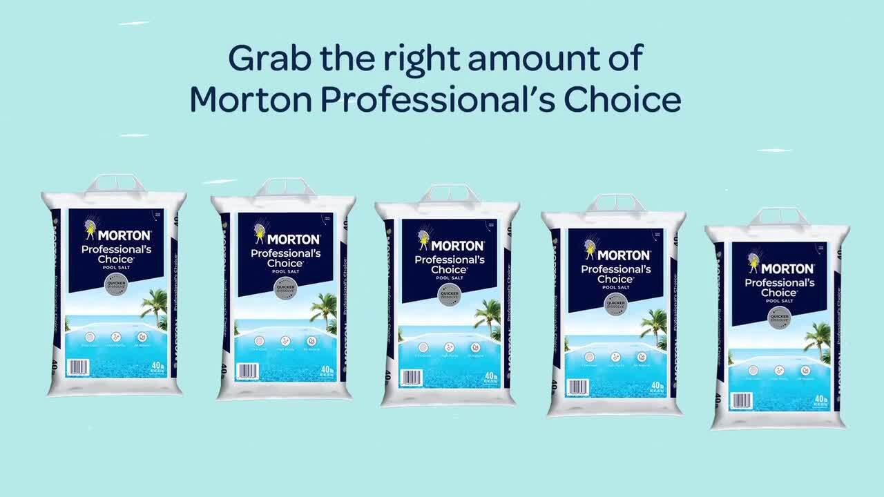 Morton Salt 40 Lbs Professional S Choice Pool Salt F124660000 The Home Depot
