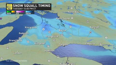 Ontario: Snow squall warnings issued, prepare for quickly changing  conditions - The Weather Network
