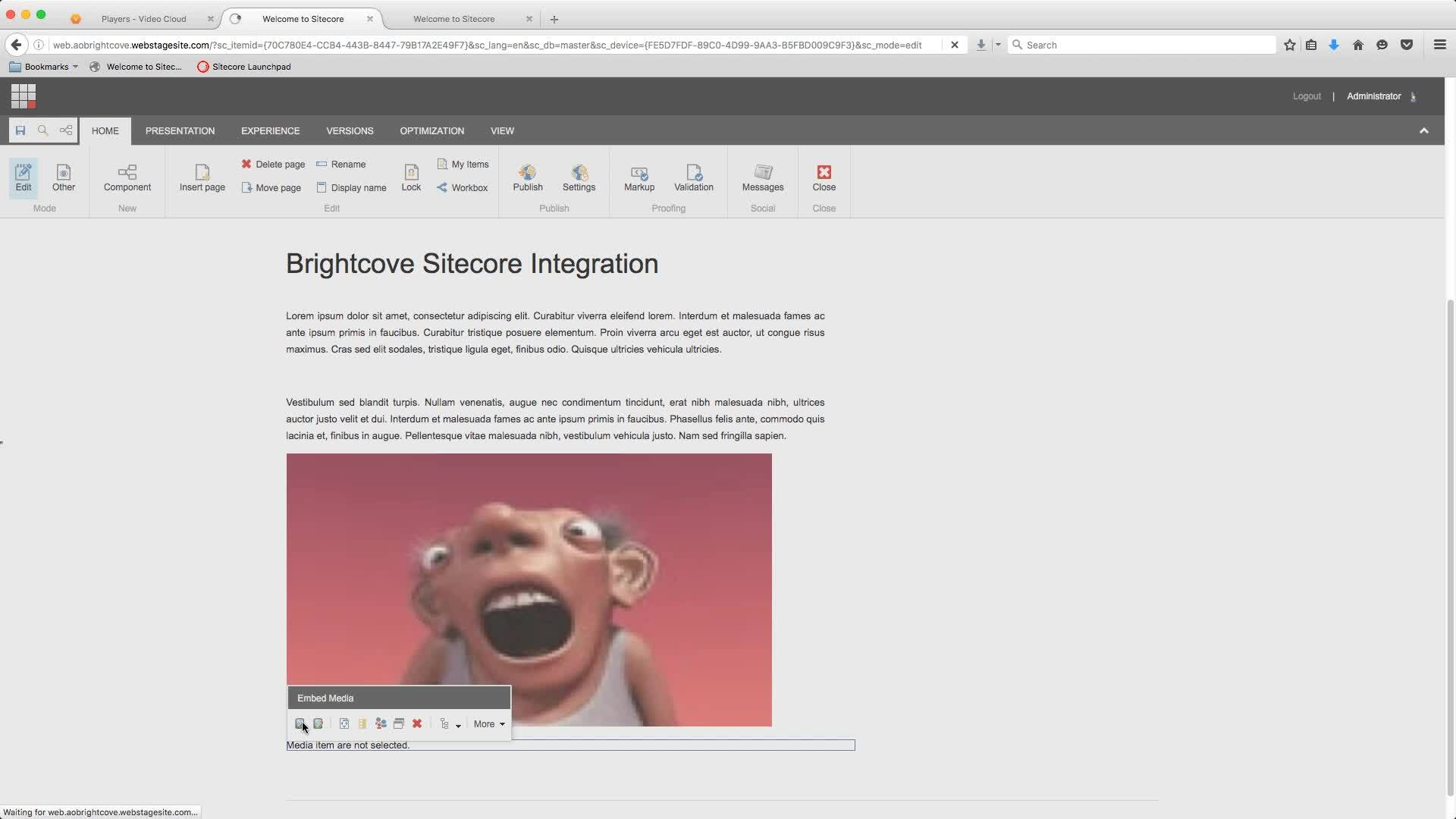 Getting Started with Brightcove Video Connect for the Sitecore