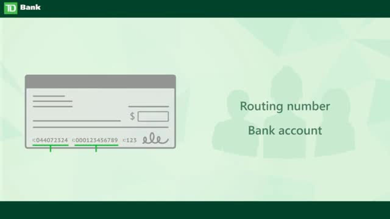 td bank routing number nj