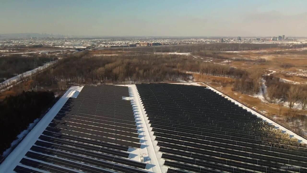 Solar panel cenral in La Prairie, Quebec,Canada