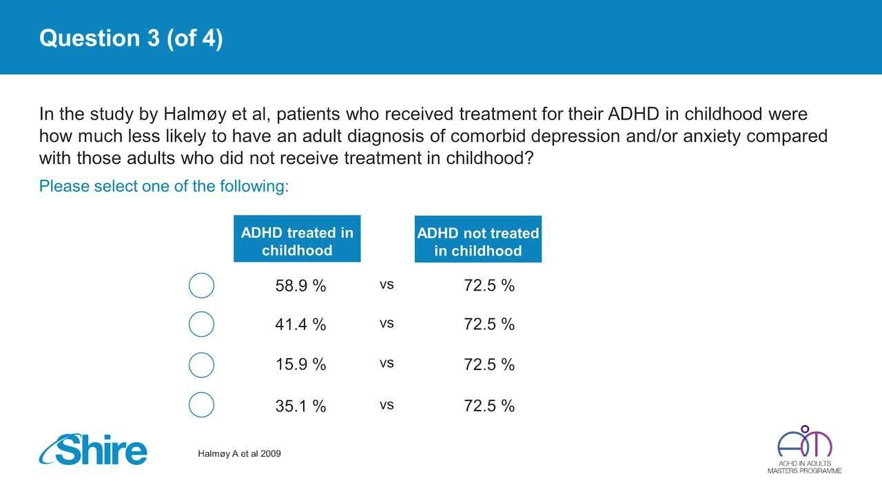 Webinar: Adult ADHD and comorbid major depressive disorder