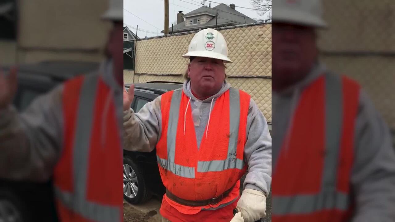 Construction guy nails Trump impression