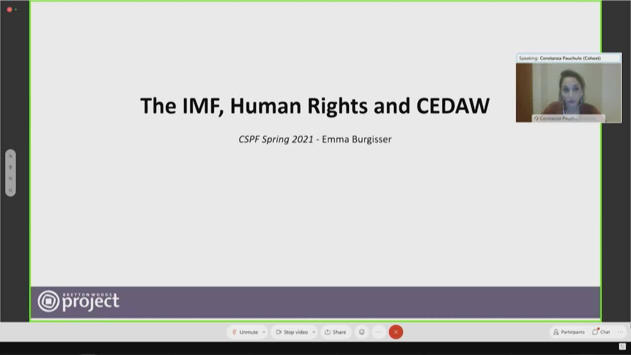 Spanish - Creating a Caring Economy: The role of IFIs and the CEDAW framework in transformative change