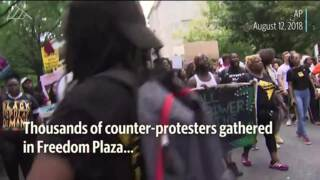 Counter-protesters outnumber white nationalists rallying in D.C.