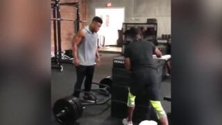 NFL stars Saquon Barkley, Todd Gurley show off superhuman strength in offseason workouts