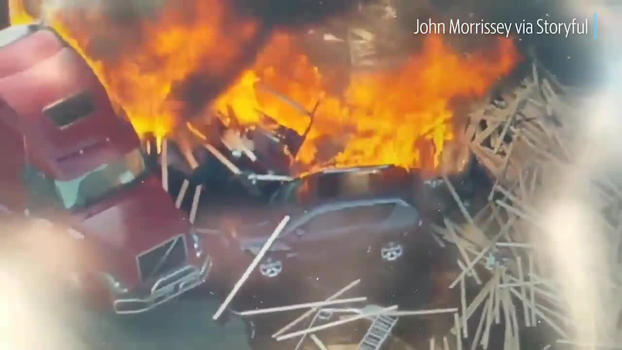 CO cops: Driver arrested in I-70 highway crash on fiery video | The