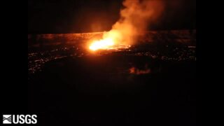 Timelapse shows Kilauea lava lake overflow