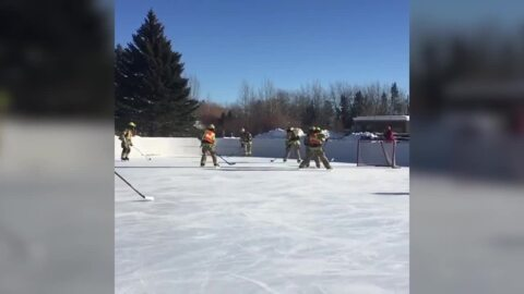 Wyoming firefighters find a fun way to train