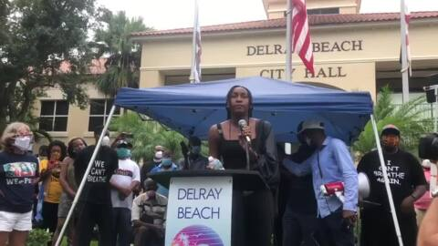 Tennis star Coco Gauff gives emotional speech on racial equality at Florida rally