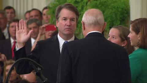 Brett Kavanaugh sworn in as Supreme Court justice