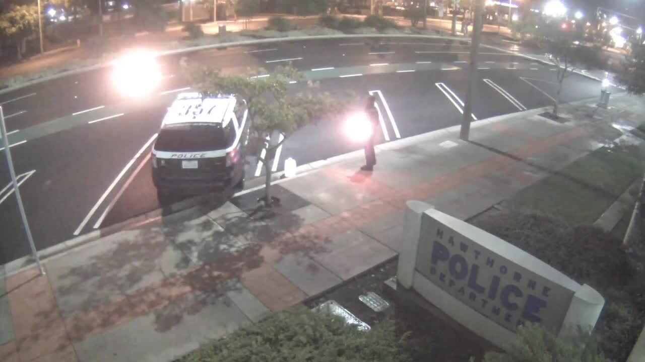 Video catches man dousing patrol car in fuel — and lighting fire, California cops say