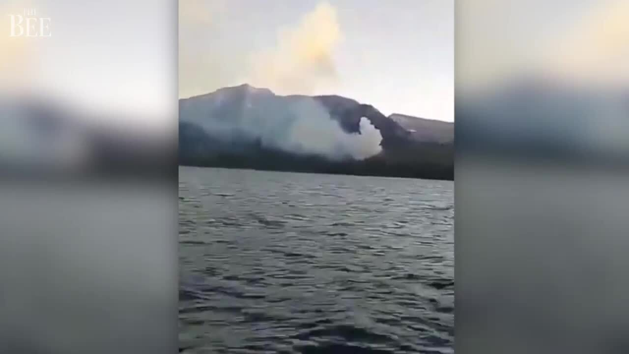See the wildfire on shores of South Lake Tahoe