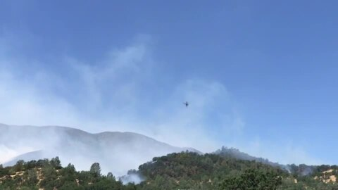 As helicopters attack Sand Fire, resident comments on evacuation