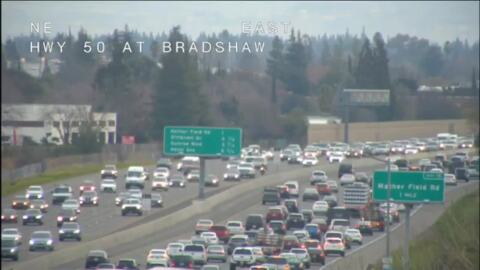 Watch backed up traffic after Monday morning Highway 80 crash