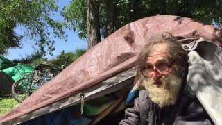 Homeless camper: 'The UP came through and kicked everybody out'