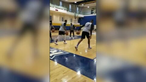 See Harry Giles in 2-minute dribbling drill as he gets in full practice