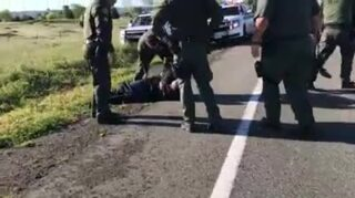 Raw video of armed suspect arrested by Placer County Sheriff's deputies