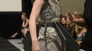 Watch Sacramento fashion show with clothes created from carpet, wall coverings, other products