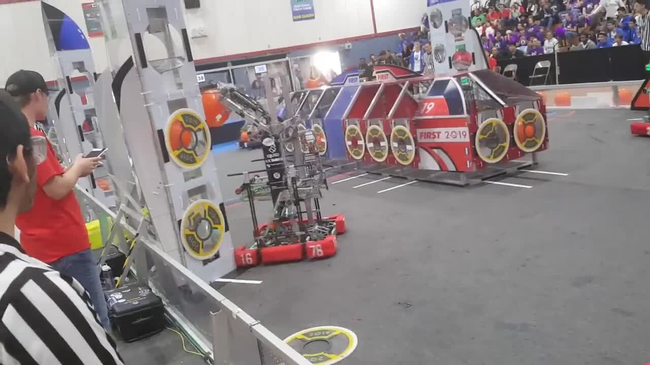 Students from all over California battle it out in annual robotics competition