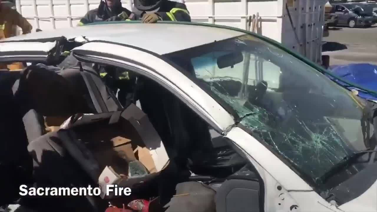 Sacramento firefighters practice car rescue | Columbus Ledger-Enquirer