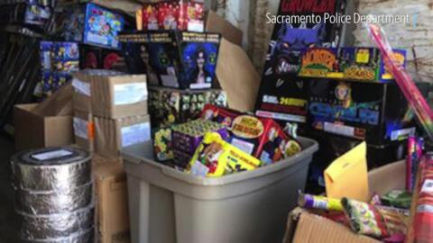 What 800 pounds of illegal fireworks seized by police this year looks like
