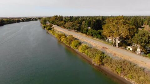 See drone view of planned Sacramento River Parkway