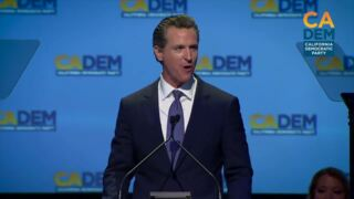 Single payer health care part of 'battle for America's soul,' Gavin Newsom says