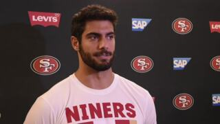 'This is a whole different team': 49ers QB Garoppolo talks about offseason grind