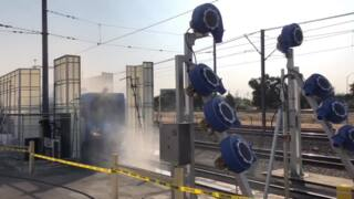 Go through SacRt's new high-powered train wash in this video