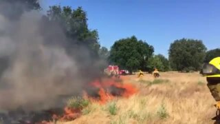 Fire crews conduct controlled burns in Lower American Parkway