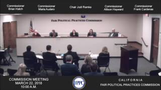 Watch this exchange between California FPPC commissioners earlier this year
