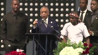 Stephon Clark's brother and Al Sharpton give emotional speeches at funeral