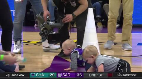 Watch video of babies racing at Sacramento Kings' game