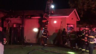 Watch as crews work to extinguish fire at group home in Modesto