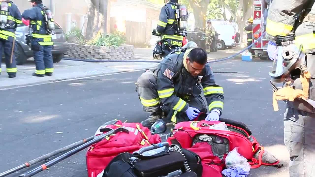 Fire displaces three residents from home in west-central Modesto; dog rescued