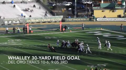 Watch highlights of Del Oro's 20-17 win over Central Catholic in the CIF Sac-Joaquin Section Division II title game