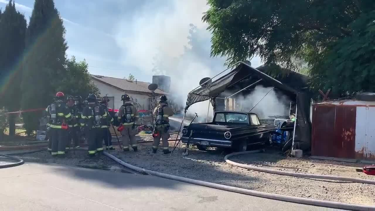 Fire displaces three people in west Modesto on Avalon Avenue