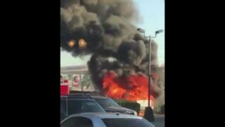 Watch pickup truck become engulfed in flames in Modesto