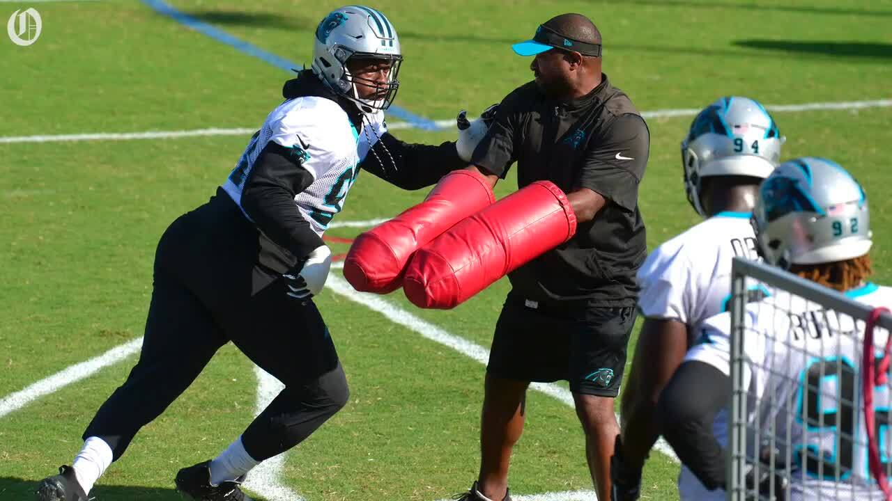 925fd3eb Carolina Panthers: Gerald McCoy practices in first minicamp ...