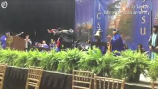 Watch this Charlotte grad's joyous dance as she finally accepts her diploma