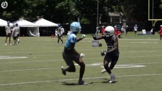 Highly touted cornerback prospect talks recruiting at Panthers' 7-on-7 tournament