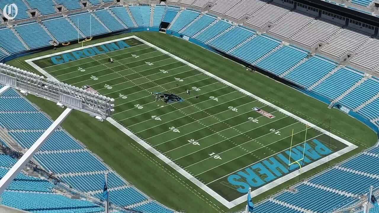 Panthers Remove Midfield Nfl Logo At Bank Of America Stadium