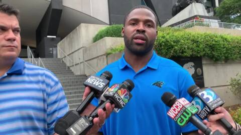 Panthers WR Torrey Smith discusses charitable donation